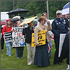 Picture from the Cedar Rapids protest. Click to see larger version at the League's flicker page.