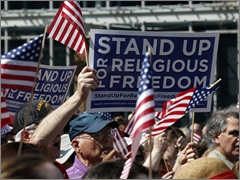 Participants at the March 23 Stand Up for Religious Freedom Rally in Philadelphia