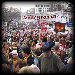 Pro-Life crowd at the March for Life